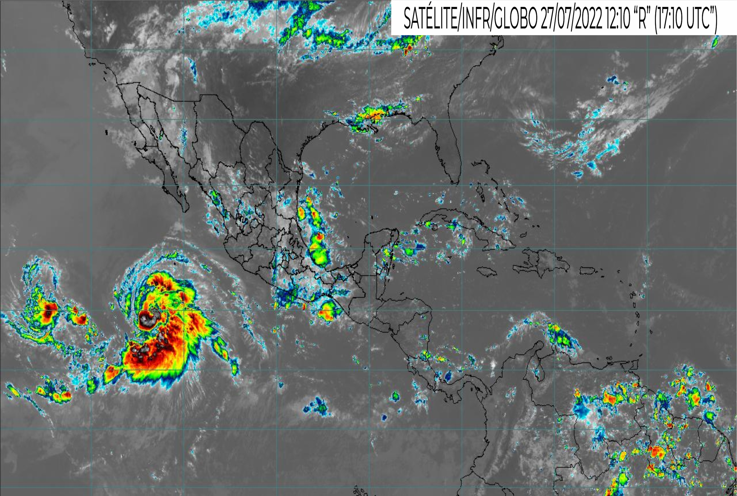 MEXICO SATELLITE WEATHER MAP